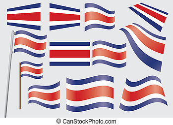 flag of Costa Rica - set of flags of Costa Rica