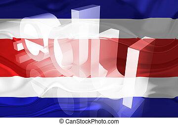 Flag of Costa Rica wavy education - Flag of Costa Rica ,...