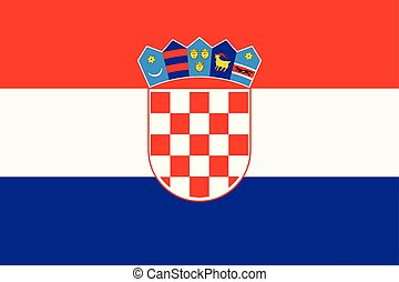 Flag of Croatia in official rate and colors vector