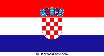 Flag of Croatia.