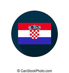 Flag of croatia on a white background.