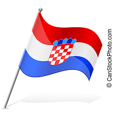flag of Croatia vector illustration