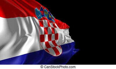 Flag of Croatia - Beautiful 3d animation Croatia flag with...