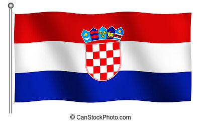 Flag of Croatia Waving