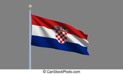 Flag of Croatia with alpha matte