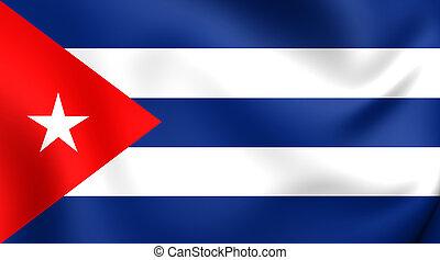 Flag of Cuba. Close Up.