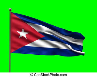 flag of Cuba loop-able 3d animation