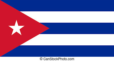 National flag and ensign of the Republic of Cuba. Adopted May 20, 1902.