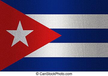 Flag of Cuba on stone