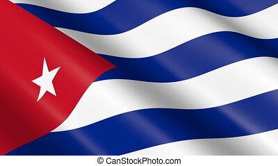 Flag of Cuba (seamless loop)