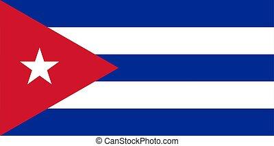 flag of Cuba. Vector illustration
