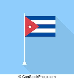 Flag of Cuba. Vector illustration .