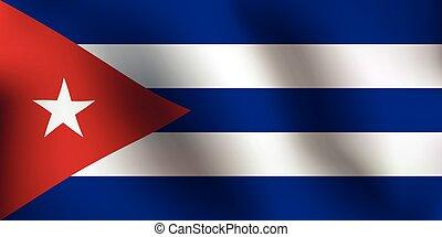 Flag of Cuba - Vector Illustration