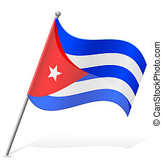 flag of Cuba vector illustration