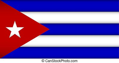 Flag of Cuba. Vector illustration. Patriotic background.