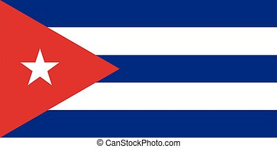Flag of Cuba vector illustration