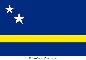 Flag of Curacao official colors and proportions