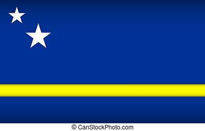Flag of Curacao. Vector illustration. Patriotic background.