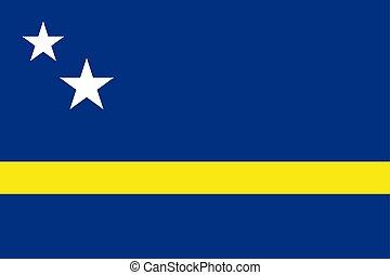 Flag of Curacao. Vector illustration. World flag