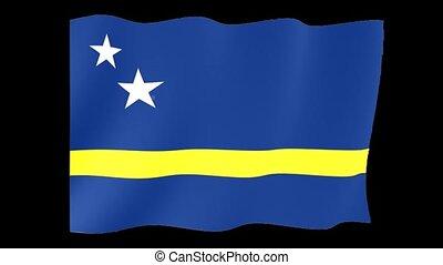 Flag of Curacao. Waving flag