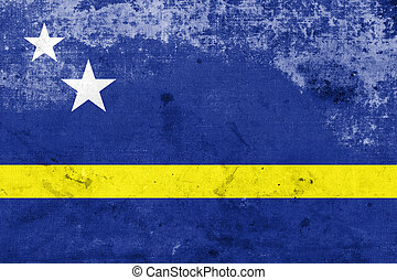 Flag of Curacao, with a vintage and old look