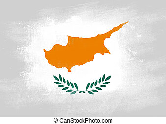 Flag of Cyprus painted with brush