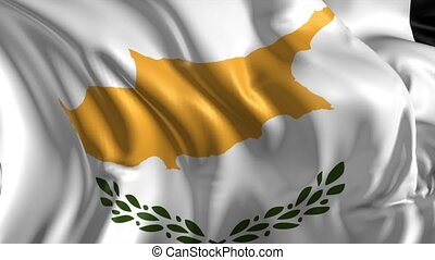 Flag of Cyprus - Beautiful 3d animation of Cyprus flag in...