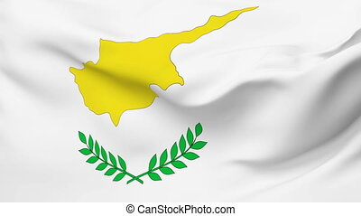 Flag of Cyprus - Flag of the Cyprus waving in the wind....