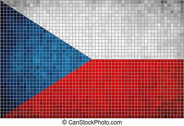 Flag of Czech - mosaic