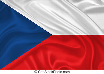 Flag of Czech Republic - Flag of the Czech Republic waving...