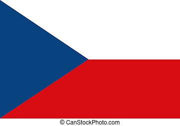 Flag of Czech Republic. Illustration
