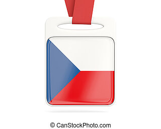 Flag of czech republic, square card