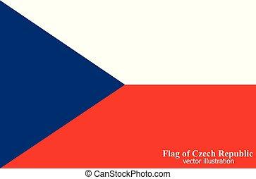 Flag of Czech Republic. Vector illustration