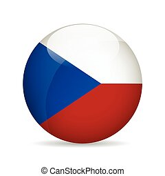 Flag of Czech Republic. Vector illustration.