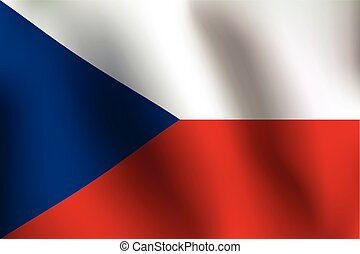 Flag of Czech Republic - Vector Illustration