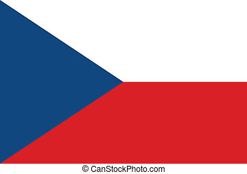 Flag of Czech Republic vector illustration