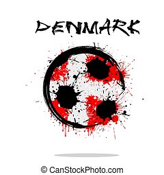 Flag of Denmark as an abstract soccer ball