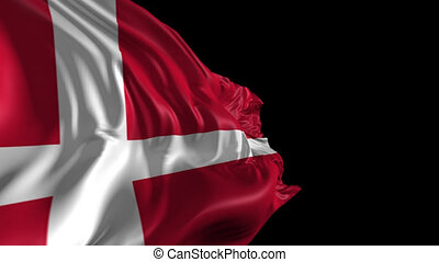 Flag of Denmark - Beautiful 3d animation of Denmark flag...