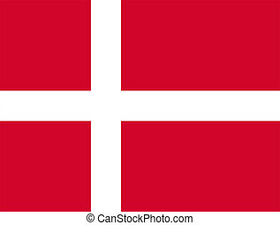 Civil and state flag and civil ensign of Denmark. Proportion 28:37. Adopted in early 15th century.