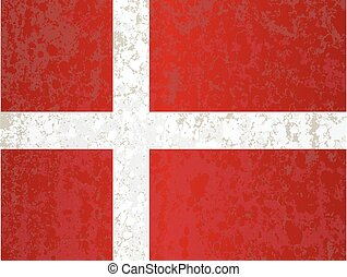 Flag of Denmark Grunge