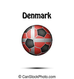 Flag of Denmark in the form of a soccer ball