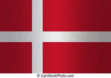 Flag of Denmark on stone