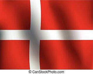 Flag of Denmark - Vector Illustration
