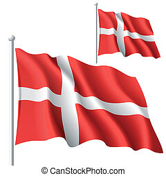 Vector illustration of flag of Denmark