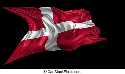 Flag of Denmark - Beautiful 3d animation of Denmark flag...