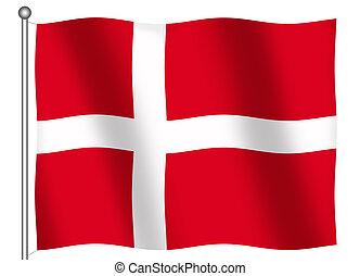 Flag of Denmark Waving - Flag of Denmark waving (With...