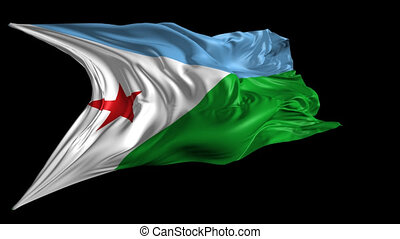 Flag of Djibouti - Beautiful 3d animation of Djibouti flag...