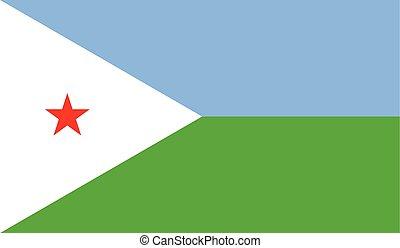 Flag of Djibouti - Djibouti flag vector illustration....