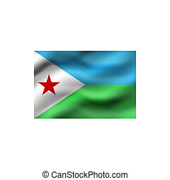 Flag of Djibouti.