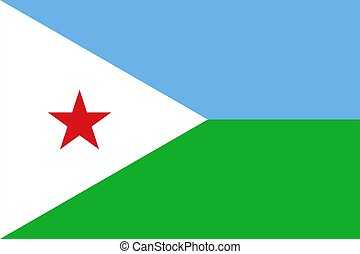 flag of Djibouti. Vector illustration